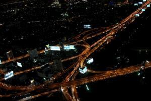 Ночной вид с обзорной площадки Байок Скай