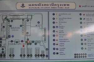 Карта (схема) жд вокзала Бангкока - Hua Lampong