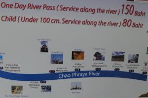 Остановки Туристического парома на Чао Прайе в Бангкоке