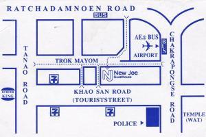 New Joe Guesthouse в Бангкоке на карте