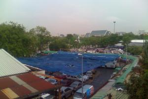 Вид с балкона New Joe Guesthouse в Бангкоке