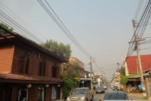 Улица с односторонним движением в Старом Городе Чиагмай