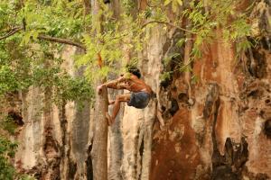 Скалолаз на Прананг Бич