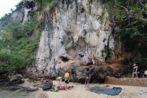 Скалолазы на Railay Beach