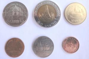 Деньги Тайланда - тайские баты в монетах