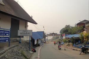 Граница с Лаосом в Чианг Кхонг