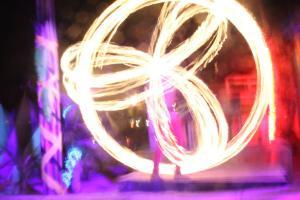Фаер шоу в Мокен баре на Пхи-Пхи