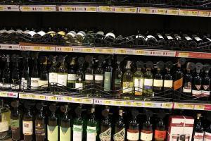 Цены на импортное вино