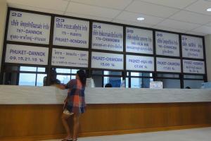 кассы терминала на Пхукете