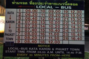 Расписание общественных автобусов Ката - Карон - Пхукет Таун