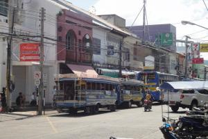 Остановка автобусов на Ранонг Роад