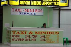 Стойка такси и минивэнов в аэропорту Пхукета