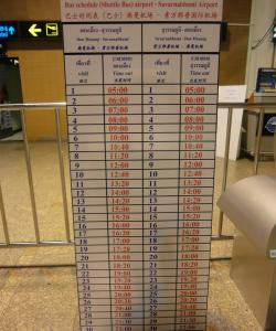 Расписание шатлов из аэропорта Дон Муанг в Суварнабхуми