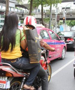 Мотобайк такси в Бангкоке