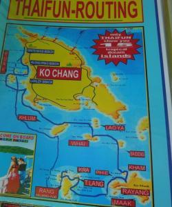 Карта островов вблизи Ко Чанга