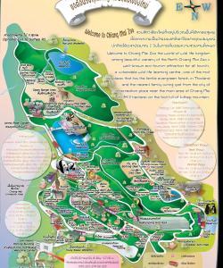 Схема зоопарка в Чианг Май. Чтобы лучше рассмотреть можно открыть и сохранить.