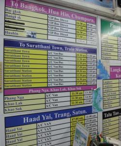 Расписание автобусов из Краби до Бангкока, Хуа Хина, Сураттани, Панг Нга, Хад Яй