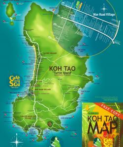 Карта Ко Тао с пляжами