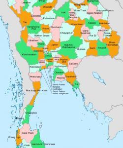 Карта провиций Тайланда