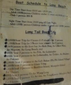 Цены на услуги такси на Пхи-Пхи