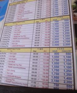Расписание водного транспорта от пирса Чалонг
