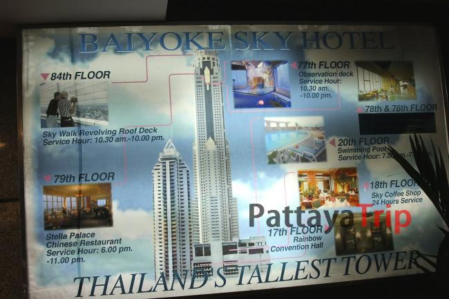 План инфраструктуры Baiyoke Sky