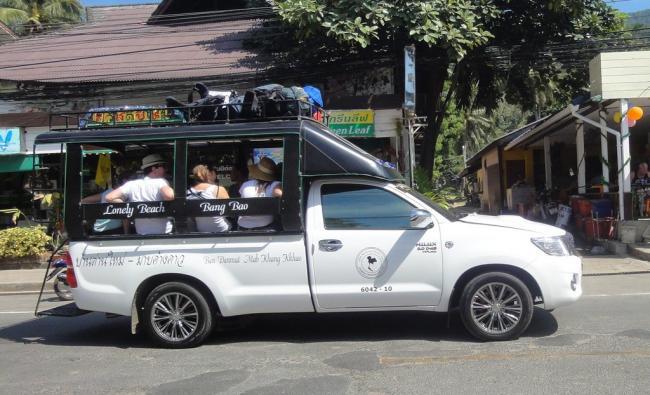 Транспорт на Ко Чанг - тук-тук, такси, мотобайки