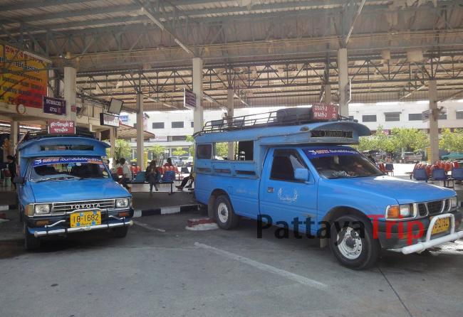 Сонгтео между автовокзалами в Чианг Рай