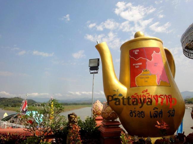 Слияние Меконга и Руак, граница Лаоса, Мьянмы и Таиланда