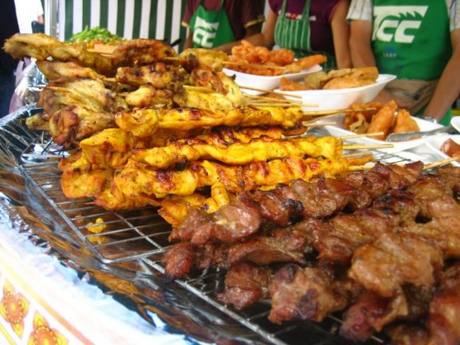 Сатэй - тайское барбекю из курицы