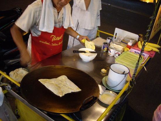 Готовим тайский блин с бананом
