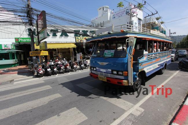 Пхукет - фото общественного автобуса