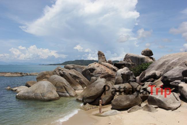 Тайланд - фото камня Дедушка на пляже Ламай (Самуи)
