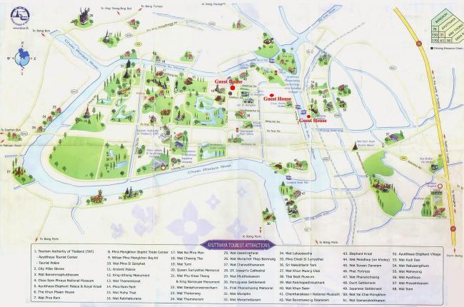 Карта Аюттайи