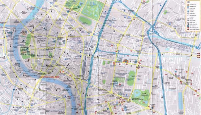 Центр Бангкока на карте