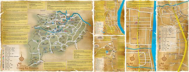 Карта окрестностей провинции Чианграй