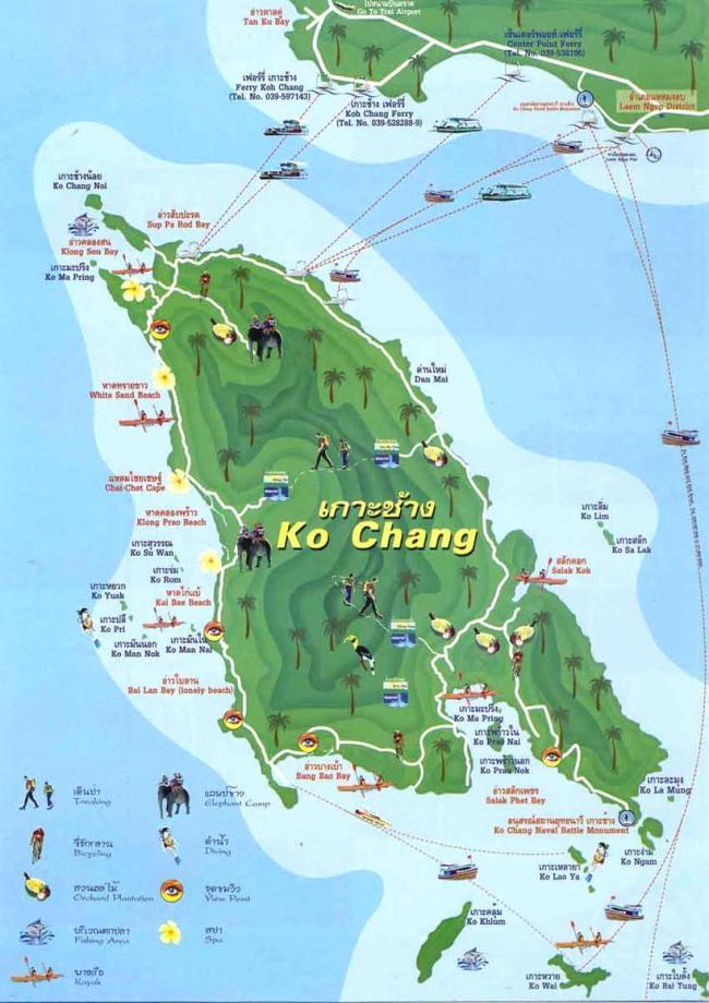 Достопримечательности и инфраструктура Ко Чанга