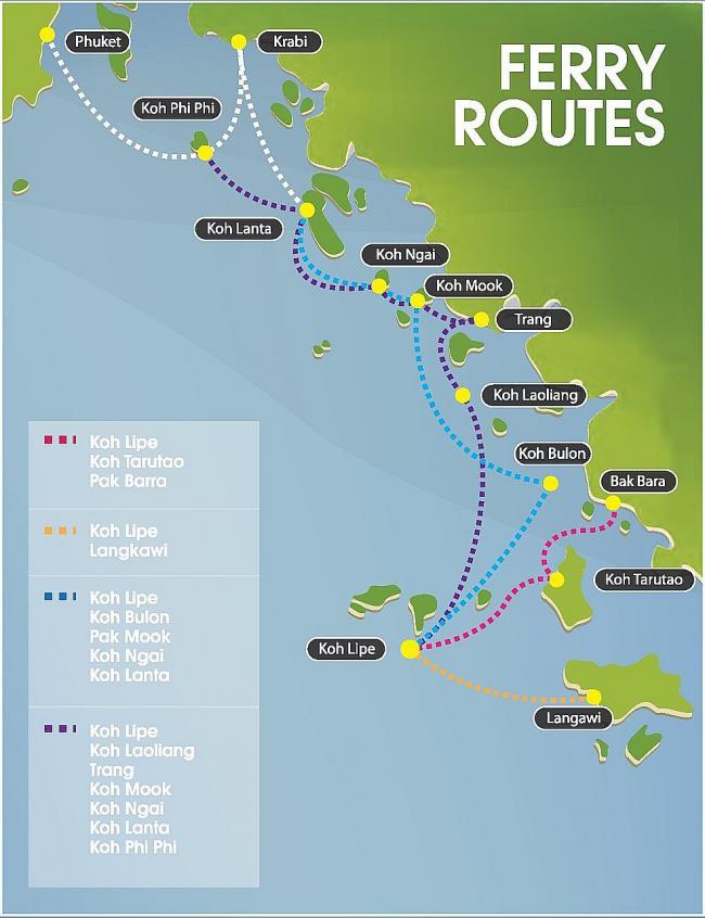 Маршрут водного транспорта до Ко Липе