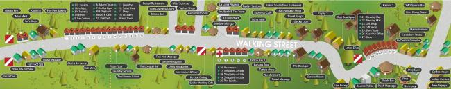 Подробная карта Walking Street на Ко Липе