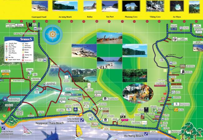 Карта Ао Нанг (Краби, Тайланд)