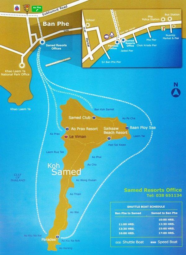 Карта «Самет и Районг»