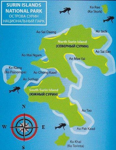 Карта Суринских островов
