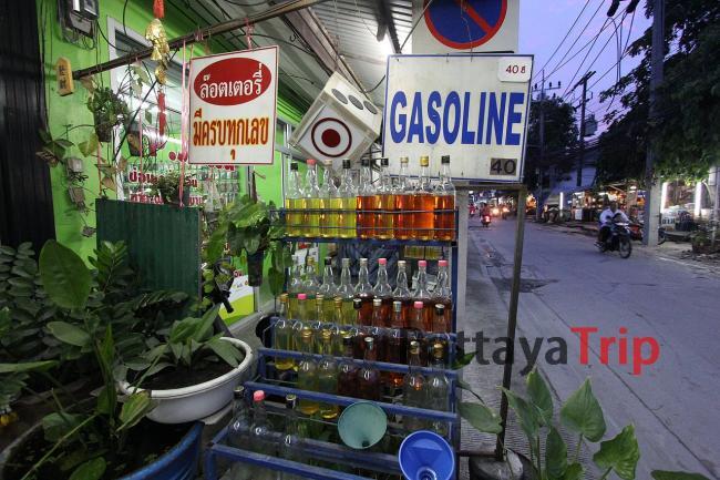 Бензин в бутылках (Самуи)