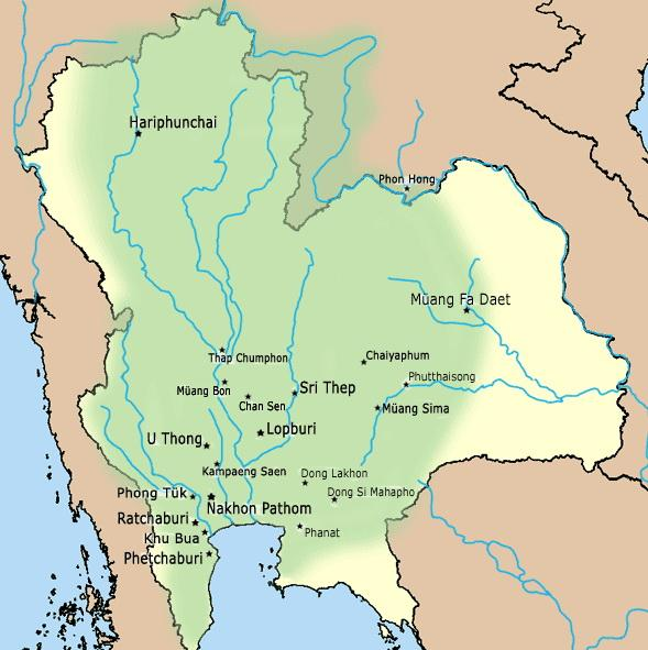 Карта государства Дваравати