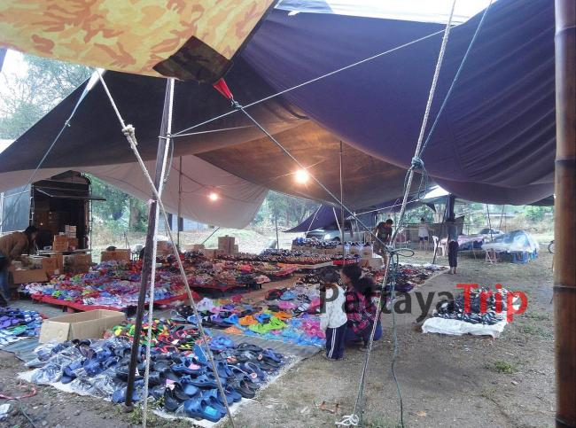 Рынок в Пае, который работает по понедельникам