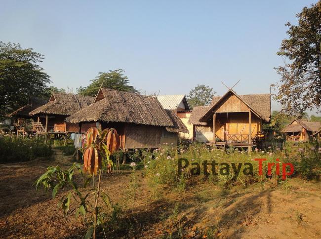 Жилье в деревянных домиках в Пае