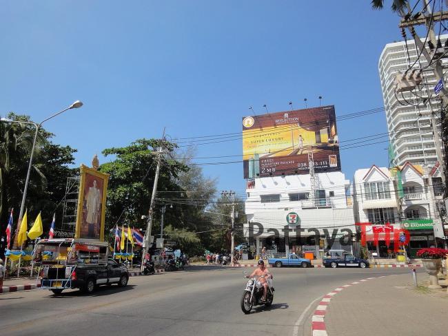 Улицы района Джомтьен в Паттайе