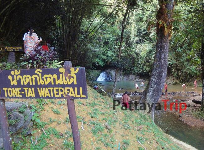 Водопад Tone Tai в Sri Phang Nga