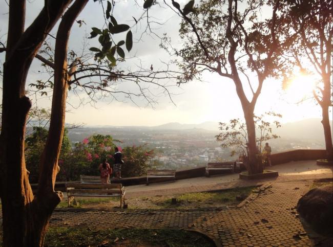 Вид на Пхукет Таун со смотровой площадки