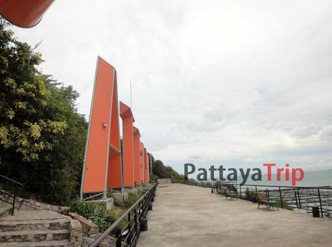 Огромные буквы PATTAYA на смотровой площадке